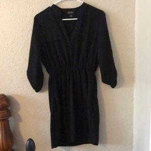Cute 3/4 sleeve black dress size M